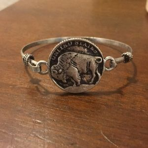 Silver nickel plated bracelet